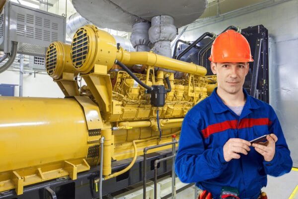 worker in boiler room